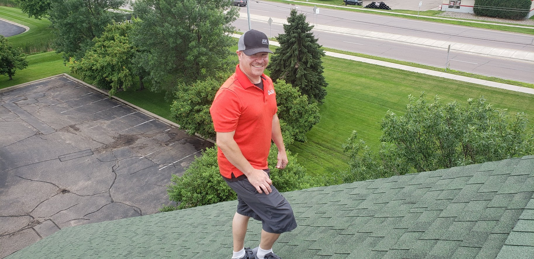 dan on the roof